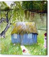 Playhouse By The Lake Canvas Print