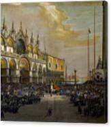 Popolo Di Venezia Solleva Canvas Print