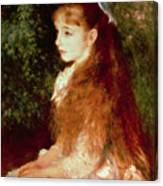 Portrait Of Mademoiselle Irene Cahen D'anvers Canvas Print