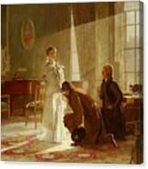 Queen Victoria Receiving News Canvas Print