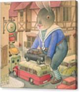 Rabbit Marcus The Great 18 Canvas Print