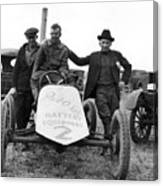 Race Car Team 1923 Black White 1920s Archive Canvas Print