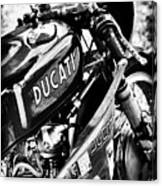 Racing Ducati Monochrome Canvas Print