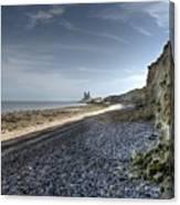 Reculver From Bishopstone Beach Canvas Print