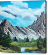 Rocky Mountain Tranquil Escape Dreamy Mirage Canvas Print