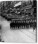 Sailors Marching In Parade 19171918 Black White Canvas Print