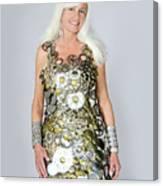 Sara In Clockwork Dragon Dress  Canvas Print