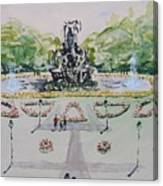 Schlossgarten Erlangen University Germany Canvas Print