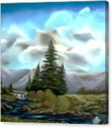 Serpentine Creek Dreamy Mirage Canvas Print