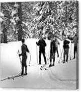 Skiers January 19 1967 Black White 1960s Archive Canvas Print