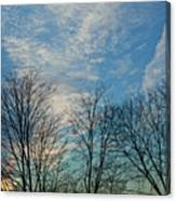 Sky And Cloouds Early Evening Canvas Print