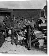 Soldiers Loading Cannon 19171918 Black White Canvas Print