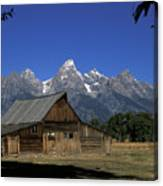 South Moulton Barn Grand Tetons Canvas Print