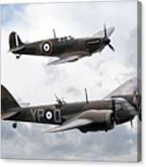 Spitfire And Blenheim Canvas Print