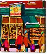 St. Viateur Bagel Family Bakery Canvas Print