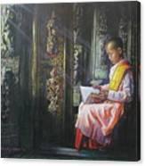 Studying Nun Canvas Print