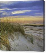 Sunset Beach Dunes Canvas Print