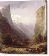 Swiss Scene Canvas Print