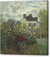 The Artist's Garden In Argenteuil  Canvas Print