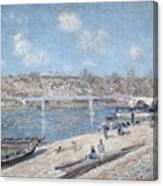 The Beach At Saint Mammes Canvas Print