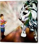 The Boy And The Lion 2 Canvas Print