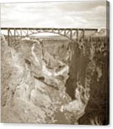 The Crooked River High Bridge Is A Steel Arch Bridge That Spans Oregon Built In 1926  Circa 1929 Canvas Print