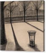 The Evening In Tuileries Paris Canvas Print