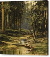 The Forest Brook Canvas Print