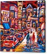 The Night Life On Crescent Street Canvas Print