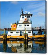 Tug Indian River Is Part Of The Scene At Port Canvaeral Florida Canvas Print