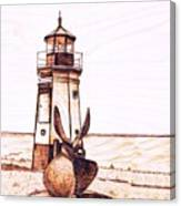 Vermilion Lighthouse Canvas Print