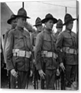 W Soldiers Standing Attention 19171918 Black Canvas Print