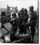 Wacs Learning Fire Machine Gun Circa 1943 Black Canvas Print