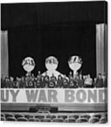 War Bond Rally Buy Bonds February 1944 Black Canvas Print