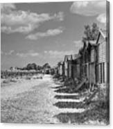 Whitstable Huts Canvas Print