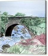 Wishing Bride Bridge, Co.. Kerry Canvas Print