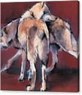 Wolf Composition Canvas Print