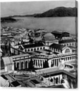 Worlds Fair San Francisco 1915 Black White 1910s Canvas Print