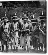 Yurok Indians In Ceremonial Costumes Circa 1905 Canvas Print