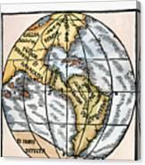 World Map, 1529 Canvas Print