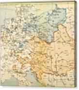 Austrian Empire Map, 1795 Canvas Print