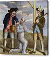 Tarring & Feathering, 1774 Canvas Print