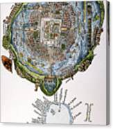 Tenochtitlan (mexico City) Canvas Print
