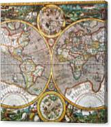 World Map, 1607 Canvas Print