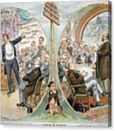 Business Cartoon, 1904 Canvas Print