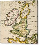 Map Of Great Britain, 1623 Canvas Print