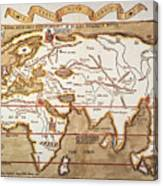 Waldseemuller: World Map Canvas Print