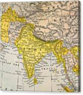 Asia Map, 19th Century Canvas Print