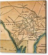 Underground Railroad Map Canvas Print