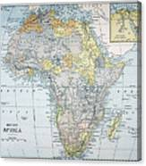 Map: Africa, 19th Century Canvas Print